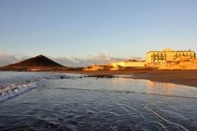 El Medano, Playa Sur Tenerife Blick vom Meer