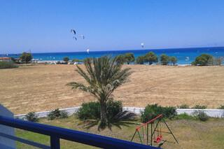 Rhodos Theologos - Nirvana Beach, Blick vom Balkon Richtung Station