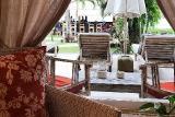 Bali - Tauchterminal Tulamben, Blick Bungalow