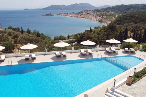 Samos, Hotel Kalidon Panorama, Pool mit Aussicht