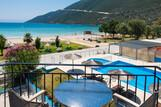 Lefkada - Surf Hotel - Blick vom Balkon Richtung Meer