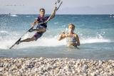 Rhodos Theologos - Kite Action am Strand