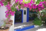 Karpathos, Poseidon Blue, Eingang Hotel und Restaurant