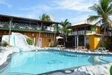 Curacao - Rancho el Sobrino, Poolbereich mit Rutsche