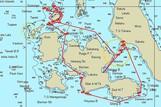 Maluku Explorer - Beispiel Routenplan