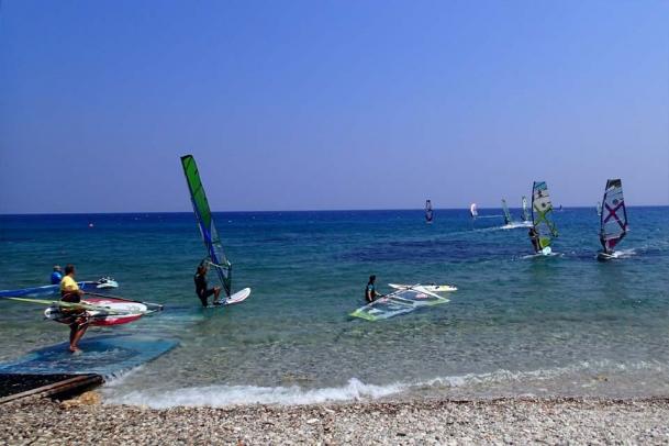 Samos - Kokkari Surf Revier, Einstieg
