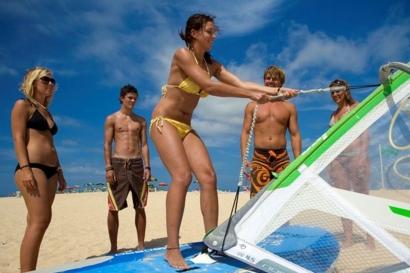 Fuerteventura Nord, Flag Beach, Trockenübungen Simulator