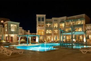 El Gouna - Mosaique Hotel, Pool bei Nacht