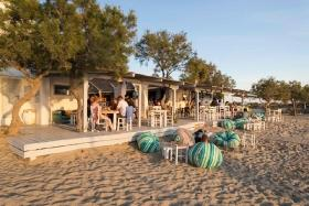 Naxos - Abendstimmung am Flisvos Beach Cafe