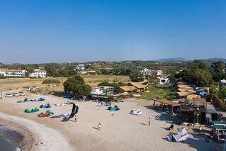 Rhodos Theologos - Blick zum Kitecenter und 'LOGOS Beach Village