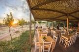 Limnos - Surf Club Keros Lodge, Restaurant Sonnenuntergang