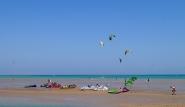 El Gouna - Osmosis Kiteboarding, Kitespot vor dem Center