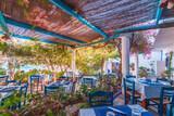 Karpathos, Poseidon Blue, schönes Hotel-Restaurant