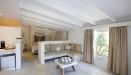 Bonaire, Sorobon Beach Resort, renoviertes Chalet, offener Schlafbereich