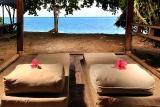 Bunaken - Siladen Dive Resort, Beach View Villa, Blick auf Meer