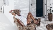 Naxos - Flisvos Studios-Suite mit Balkon und Meerblick, chillen im Schatten