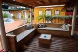 Curacao - Rancho el Sobrino, Sitzecke Tauchbasis