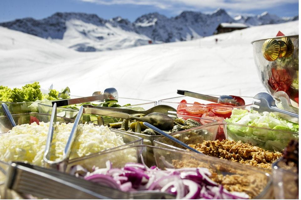 Arosa - ROBINSON Club, Mittagsbuffet Bergrestaurant