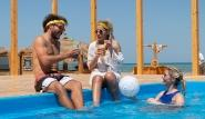 El Gouna -  Kiteboarding-Club, Erfrischung am Pool