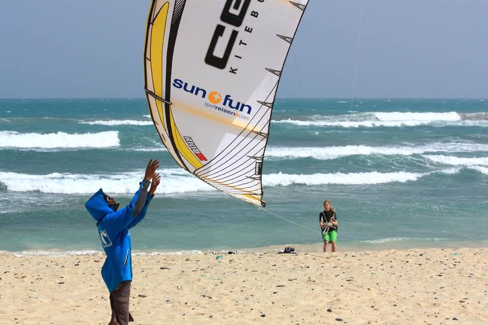 Sal - Kite Launching am alten KBC Center