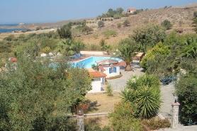 Sigri Lesbos - Blick auf Hotel Orama