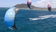 Fuerteventura Nord, Flag Beach, Kite Trio