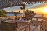 Naxos - Sonnenuntergang im Beach Café
