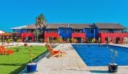 Bonaire - Sorobon Apartments, Blick Richtung Apartmenthaus mit Garten