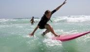 Fuerteventura Nord, Flag Beach, Spaß am Wellenreiten