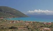 Lefkada -Blick von oben auf Bucht