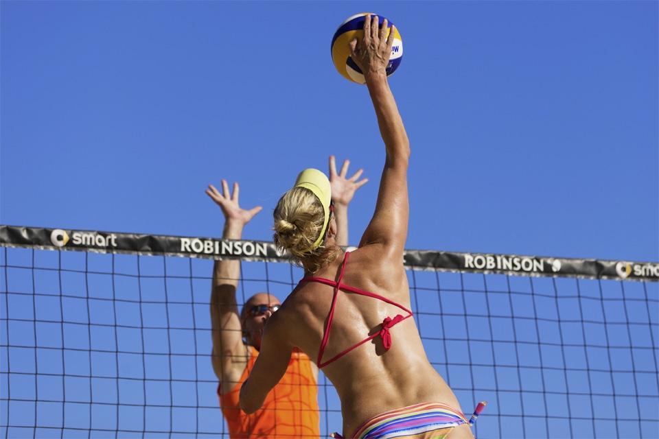 Fuerteventura - ROBINSON Club Jandia Playa, Beachvolleyball Angriff