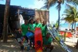 Cabarete, Cabarete Windsportsclub, Team unter Palmen