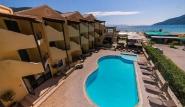 Lefkada - Club Vass Hotel, Pool mit Meerblick