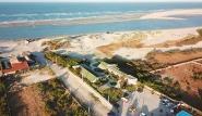 Parajuru - Kiteboarding-Club und Spot Luftaufnahme