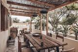 Naxos - Flisvos seaside Studios & Appartements, Farmhouse, Terrasse