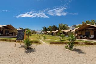Rhodos Theologos - 'LOGOS Beach Village,  Blick vom Strand