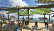 Bonaire - Sorobon Beach Resort, Morning Yoga Session mit Meerblick