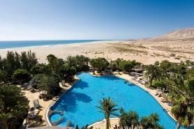Fuerteventura - Melia Gorriones, Blick auf die Lagune bei Ebbe