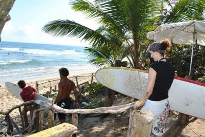 Cabarete Wellenreiten Surfcamp in der Dominikanischen Republik