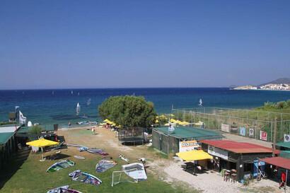 Samos - Kokkari, Surfcenter von oben