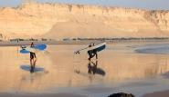 Dakhla Nord - ION CLUB, Ausflug Wellenreiten L´Aaresch