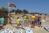 Karpathos, Meltemi Windsurfing Lagune, Material Schulung