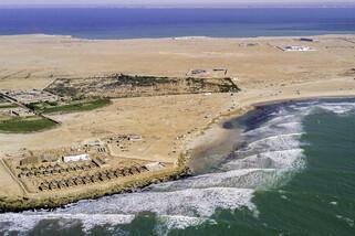 Dakhla - Westpoint Wassersportcenter, Wellenrevier von oben