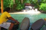 Bunaken - Seabreeze Resort, Abfahrt vom Tauchcenter
