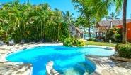 Cabarete, Villa Taina, Pool mit Blick Richtung Strand
