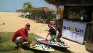 Sao Miguel de Gostoso, Dr. Wind, sun+fun Mitarbeiter Klaus mit Paolo