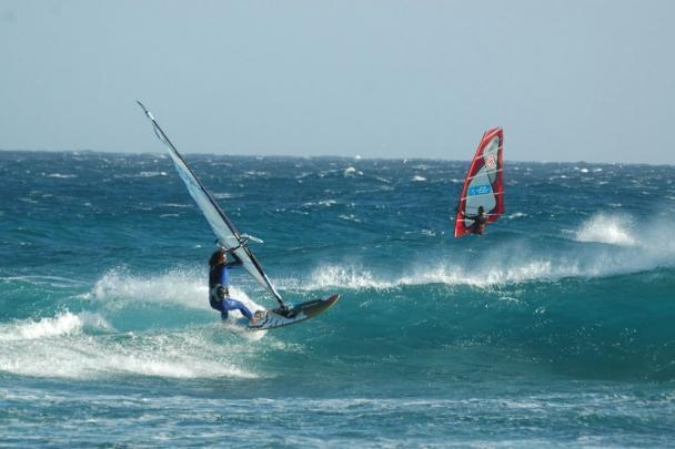 Lanzarote, Windsurf Paradise, Surfen Welle
