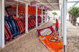 Fuerteventura Sotavento - René Egli Windsurf Center, Segelhalle