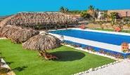 Bonaire - Sorobon Apartments, Blick vom Balkon Richtung Pool