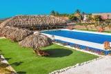 Bonaire - Sorobon Boutique Hotel, Blick vom Balkon Richtung Pool